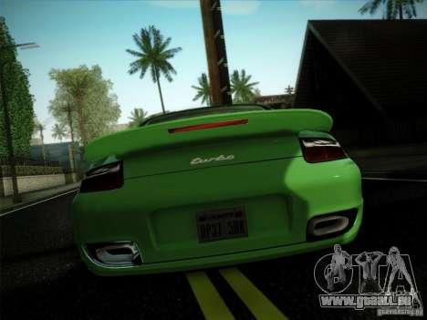 Porsche 911 (997) turbo pour GTA San Andreas laissé vue