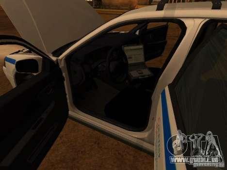 Chevrolet Impala Police 2003 für GTA San Andreas Innenansicht
