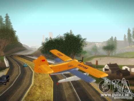 An-2V pour GTA San Andreas sur la vue arrière gauche