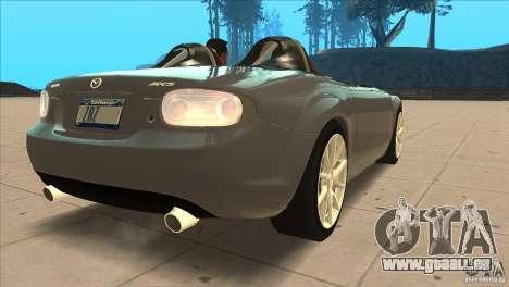Mazda MX5 Miata Superlight 2009 V1.0 pour GTA San Andreas vue de droite