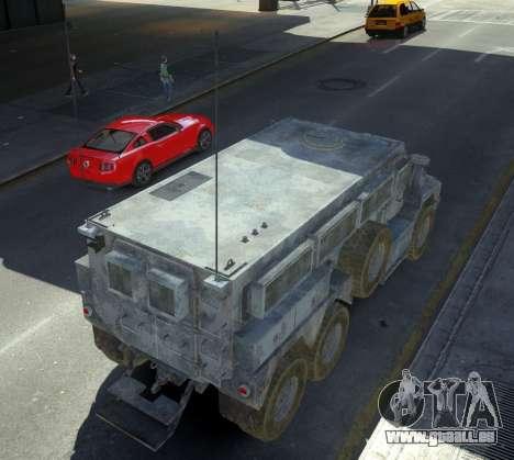 HEMTT Phalanx Oshkosh pour GTA 4 Vue arrière de la gauche