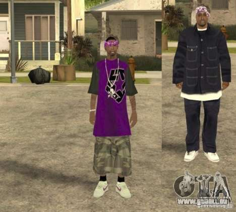 Skinpack Ballas für GTA San Andreas dritten Screenshot