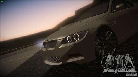 BMW M3 E92 pour GTA San Andreas vue de côté