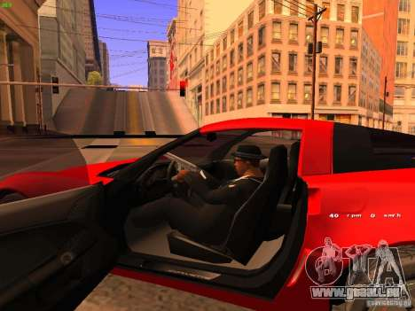 Chevrolet Corvette Z06 für GTA San Andreas Innenansicht