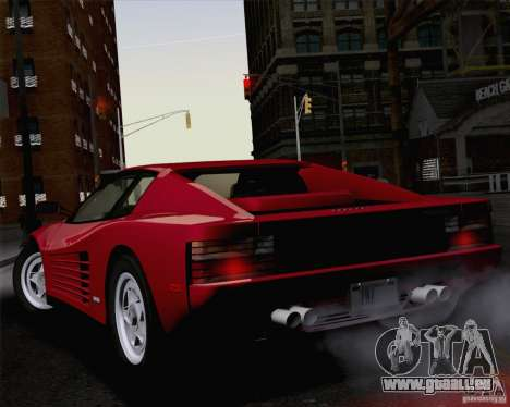 Ferrari Testarossa 1986 pour GTA San Andreas laissé vue