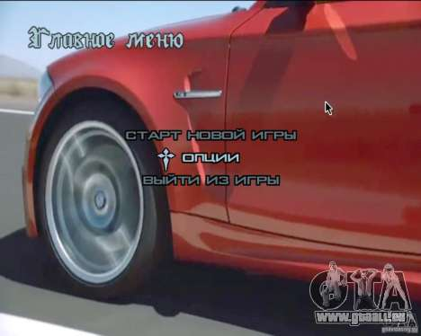 Video-Hintergründe im Menü für GTA San Andreas