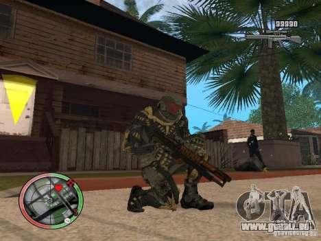 Collection d'armes de Crysis 2 pour GTA San Andreas troisième écran