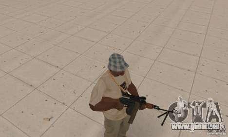 Tragbares Maschinengewehr Kalaschnikow für GTA San Andreas zweiten Screenshot