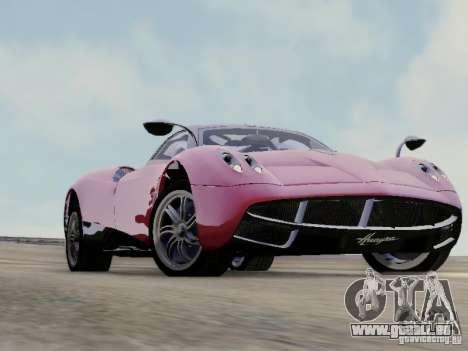 Pagani Huayra pour GTA San Andreas sur la vue arrière gauche
