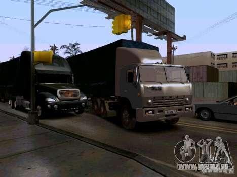 KAMAZ 55111 pour GTA San Andreas vue intérieure