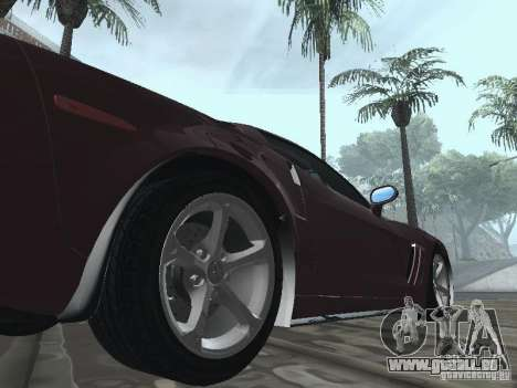 Chevrolet Corvette Grand Sport 2010 pour GTA San Andreas vue arrière