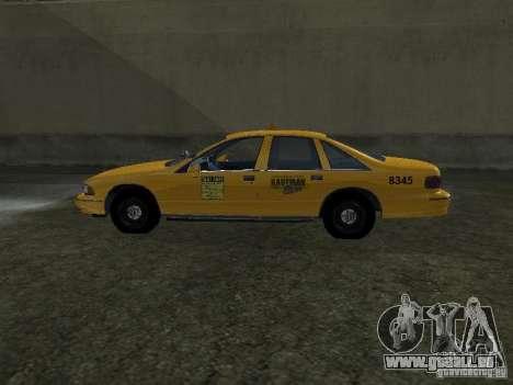 Chevrolet Caprice 1993 Taxi pour GTA San Andreas laissé vue