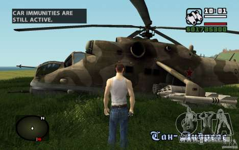 Mil Mi-24 für GTA San Andreas