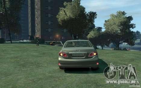 Toyota Corolla 2008 pour GTA 4 est un droit