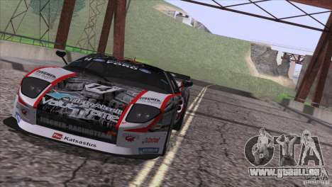 Ford GT Matech GT3 Series pour GTA San Andreas vue intérieure