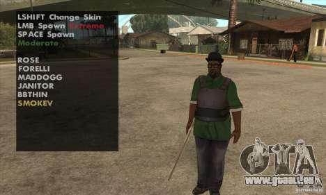 Skin Selector v2.1 für GTA San Andreas her Screenshot