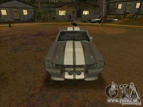Ford Shelby GT500 Eleanor pour GTA San Andreas vue arrière