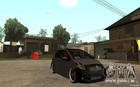 Toyota Yaris II Custom pour GTA San Andreas vue arrière