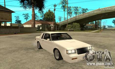 Buick Regal Grand National GNX für GTA San Andreas Rückansicht