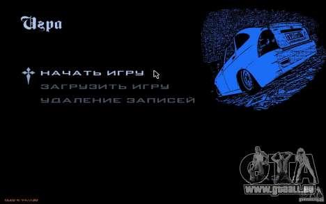 Le menu de la Nogaystan jeu de GTA pour GTA San Andreas troisième écran