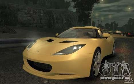 Lotus Evora 2009 pour GTA 4 Vue arrière de la gauche