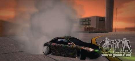 Mitsubishi Eclipse 1997 Drift für GTA San Andreas Rückansicht
