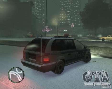 LCPD Minivan pour GTA 4 est un droit