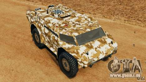 Armored Security Vehicle für GTA 4 Unteransicht