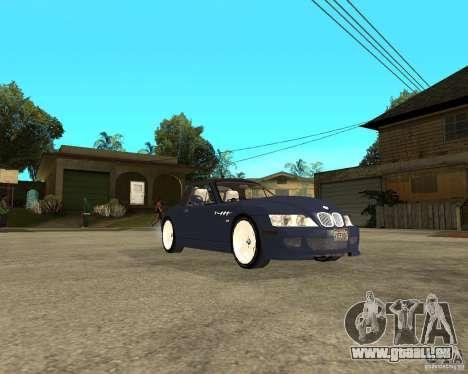 BMW Z3 Roadster pour GTA San Andreas vue de droite