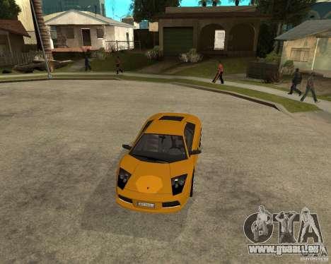 Lamborghini Murcielago pour GTA San Andreas vue arrière