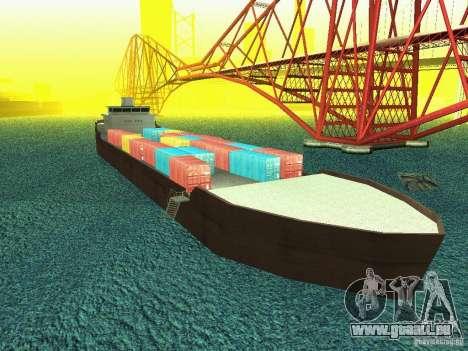 Drivable Cargoship pour GTA San Andreas