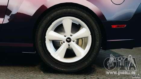 Ford Mustang 2013 Police Edition [ELS] pour GTA 4 vue de dessus