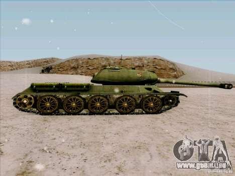 T-34 pour GTA San Andreas laissé vue