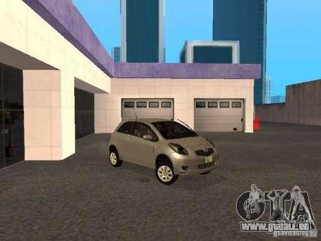 Toyota Yaris Sport 2008 pour GTA San Andreas laissé vue