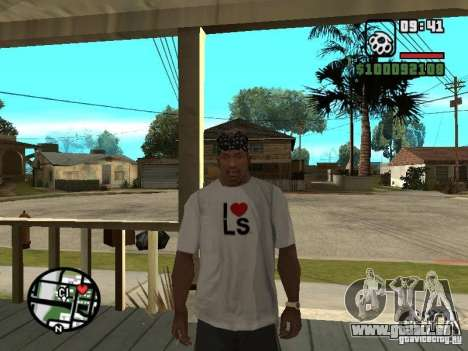 Rammstein T-shirt v2 für GTA San Andreas her Screenshot