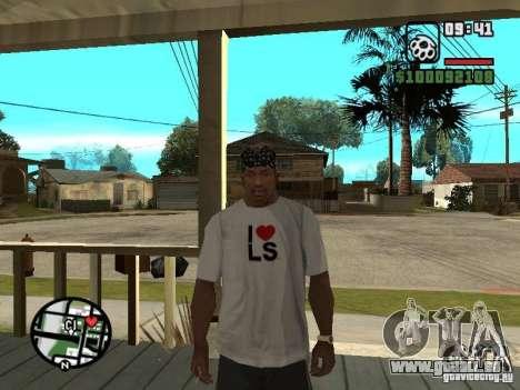 Rammstein t-shirt v2 pour GTA San Andreas quatrième écran