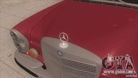 Mercedes-Benz 300 SEL für GTA San Andreas Innenansicht