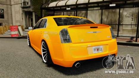 Chrysler 300 SRT8 LX 2012 pour GTA 4 Vue arrière de la gauche