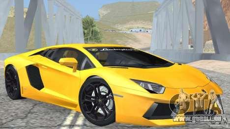 Lamborghini Aventador LP700-4 2012 pour GTA San Andreas sur la vue arrière gauche