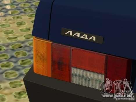 Vaz 2109 Drain V2 pour GTA San Andreas vue arrière
