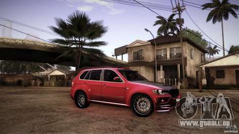 BMW X5 with Wagon BEAM Tuning pour GTA San Andreas vue de dessus