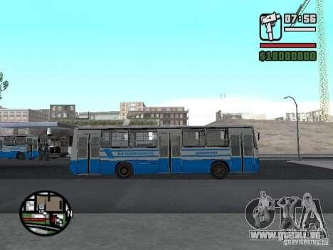Ikarus 260 Sicherheits für GTA San Andreas linke Ansicht