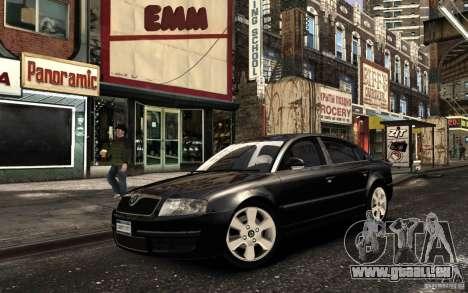 Skoda SuperB pour GTA 4 est une vue de l'intérieur
