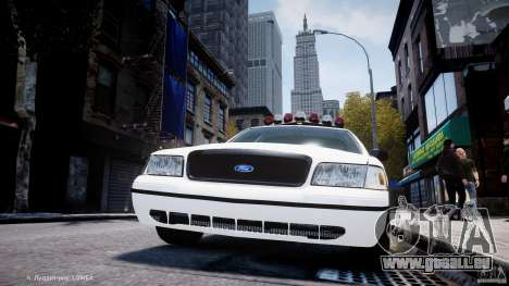 Ford Crown Victoria New Jersey State Police pour GTA 4 roues