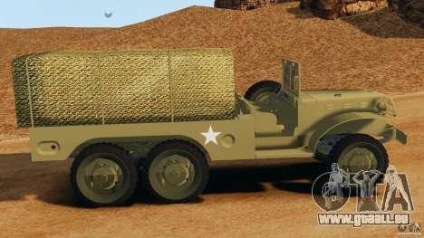 Dodge WC-62 3 Truck pour GTA 4 est une gauche