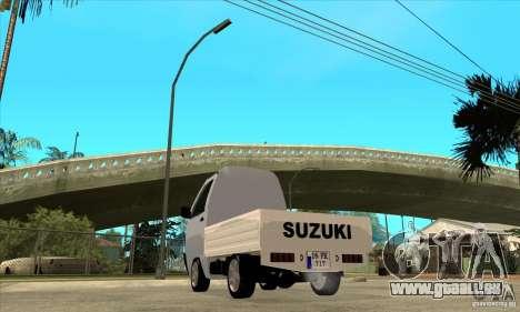 Suzuki Carry Kamyonet pour GTA San Andreas sur la vue arrière gauche