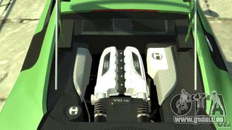 Audi R8 5.2 FSI quattro v1 pour GTA 4 Vue arrière