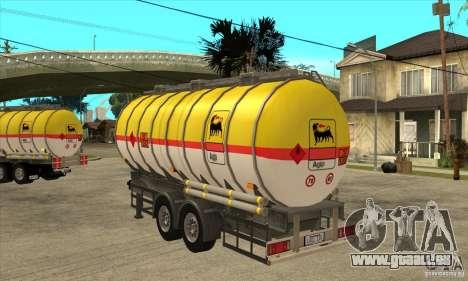 Trailer Tunk pour GTA San Andreas sur la vue arrière gauche