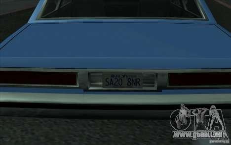 Civilian Police Car LV pour GTA San Andreas vue arrière