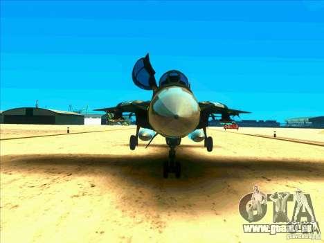 F-14 Tomcat Schnee für GTA San Andreas Innenansicht